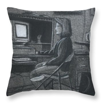 Home Office Throw Pillow by Stacy C Bottoms