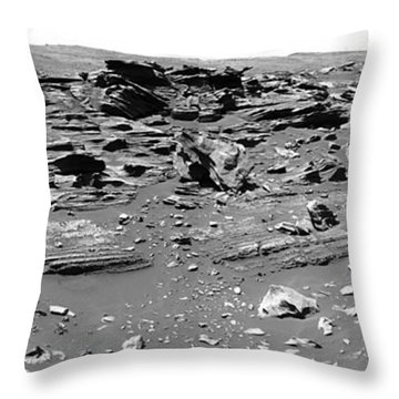 Home Plate, Mars Throw Pillow by Nasa