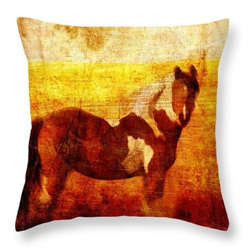 Home Series - Strength And Grace Throw Pillow by Brett Pfister