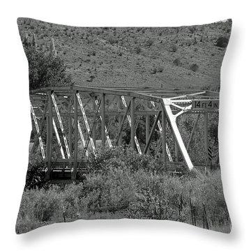 Hondo Iron Throw Pillow by Shawn Naranjo