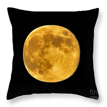 Honey Moon Close Up Throw Pillow by Al Powell Photography USA