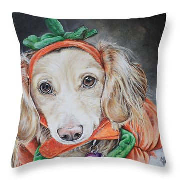 Honey Pie Throw Pillow by Mary-Lee Sanders