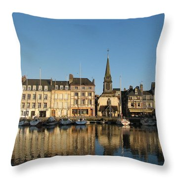 Throw Pillow featuring the photograph Honfleur  by Carla Parris