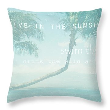 Hono Kai Makani A Kai  Throw Pillow by Sharon Mau