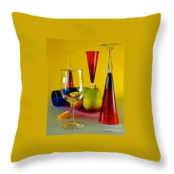 Throw Pillow featuring the photograph Honor To  Mondrian  by Elf Evans