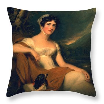 Honorable Emma Cunliffe Later Emma Cunliffe-offley Throw Pillow by Thomas Lawrence