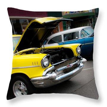 Hoods Up Throw Pillow by Toni Hopper