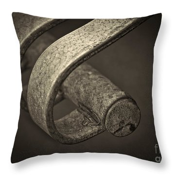 Hooked. Throw Pillow by Clare Bambers