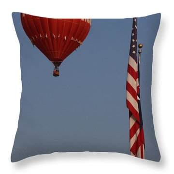Throw Pillow featuring the photograph Hooters American Flag by Jerry Bunger