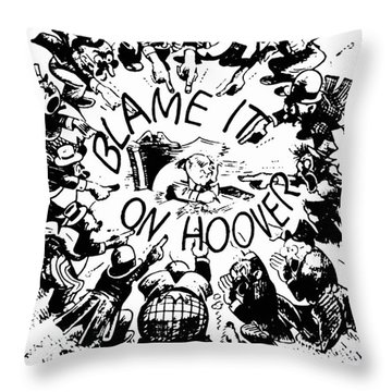 Hoover Cartoon, 1931 Throw Pillow by Granger