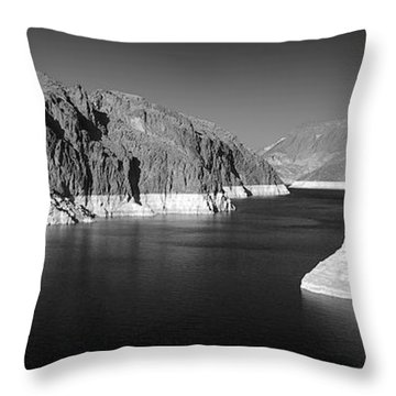 Hoover Dam Reservoir - Architecture On A Grand Scale Throw Pillow by Christine Till