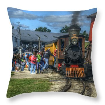 Throw Pillow featuring the photograph Hop On Board by Janice Adomeit
