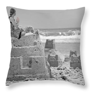 Sandcastles Throw Pillows