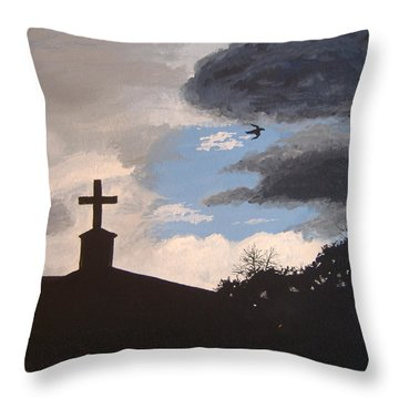 Throw Pillow featuring the painting Hope In The Storm by Norm Starks