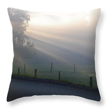Hope Is In His Light Throw Pillow
