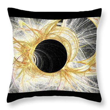 Throw Pillow featuring the digital art Horizon by Kim Sy Ok