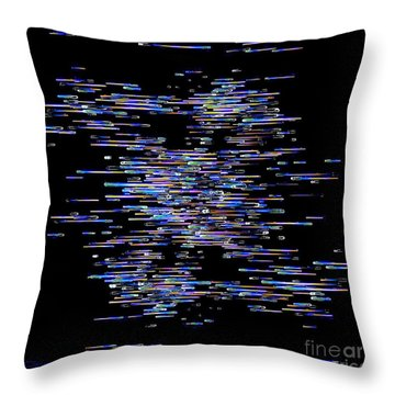 Throw Pillow featuring the digital art Horizontal Rainbow by Greg Moores