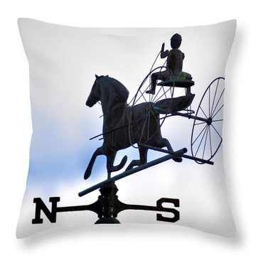 Horse And Buggy Weather Vane Throw Pillow by Bill Cannon