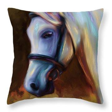 Horse Of Colour Throw Pillow