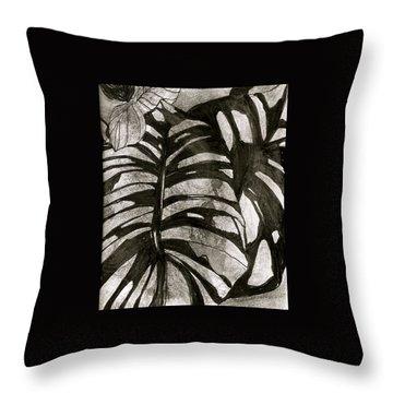Hostas Version II Throw Pillow by Claudia Smaletz