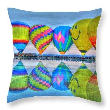 Hot Air Balloons At Eden Park Throw Pillow