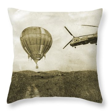 Hot Air Cool Air Throw Pillow by Betsy Knapp