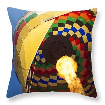 Hot Air Throw Pillow by Rick Berk