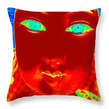 Throw Pillow featuring the photograph Hot Asian Lady by Renee Trenholm