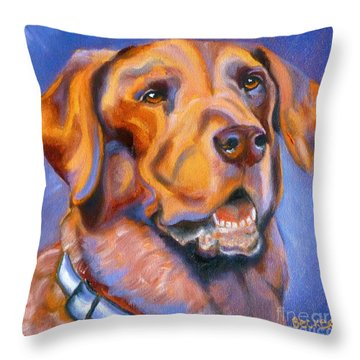 Hot Chocolate Lab Throw Pillow