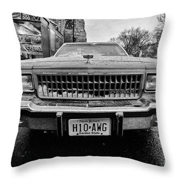 Hot Dawg At Central Park Throw Pillow by John Farnan