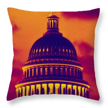 Throw Pillow featuring the photograph Hot Dome by Jim Moore