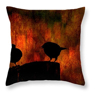 Hot Gossip Throw Pillow