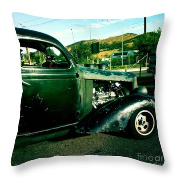 Hot Rod Throw Pillow by Nina Prommer