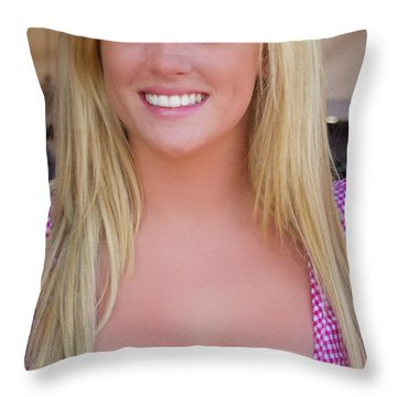Hot Stampede Girl Throw Pillow by Andre Distel