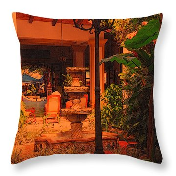 Throw Pillow featuring the photograph Hotel Alhambra by Lydia Holly