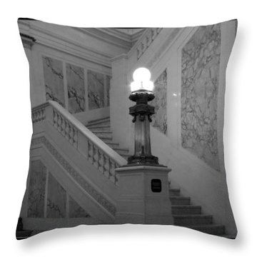 Throw Pillow featuring the photograph Hotel Monoco by Darleen Stry