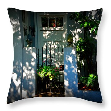 House Door 11 In Charleston Sc  Throw Pillow by Susanne Van Hulst