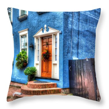 House Of Blues Throw Pillow by Debbi Granruth