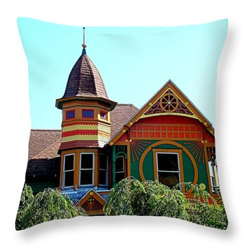 House Of Many Colors Throw Pillow by Nick Kloepping