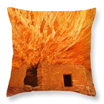 House On Fire Portrait 1 Throw Pillow by Bob and Nancy Kendrick