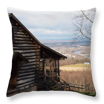 House On The Hill Throw Pillow by Robert Margetts