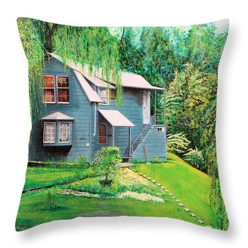 House Woodstock Ny Throw Pillow by Stuart B Yaeger