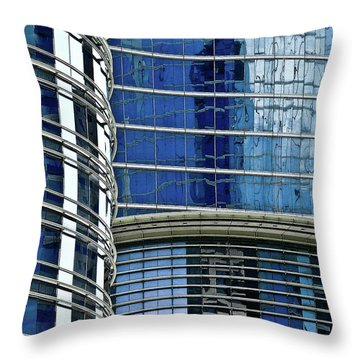 Houston Architecture 1 Throw Pillow