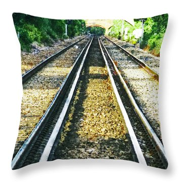 Throw Pillow featuring the photograph How Come They Never Go Up The Middle by Steve Taylor