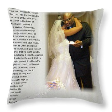 How Much Do I Love Thee Throw Pillow by Terry Wallace