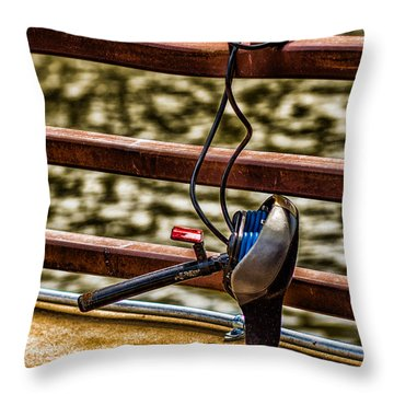 Throw Pillow featuring the photograph How Not To Lock Your Bike by Tom Gort
