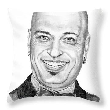 Howie Mandel Throw Pillow by Murphy Elliott
