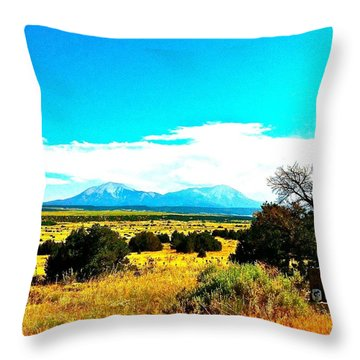 Spanish Peaks Throw Pillow