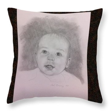 Throw Pillow featuring the painting Hudson by Carol Berning