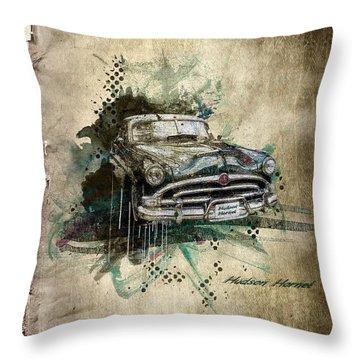 Hudson Hornet Throw Pillow by Svetlana Sewell
